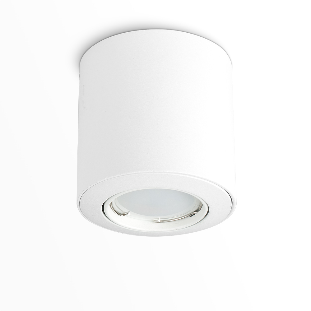 Surface Non-Fire Rated Mounted Tiltable Downlight in White