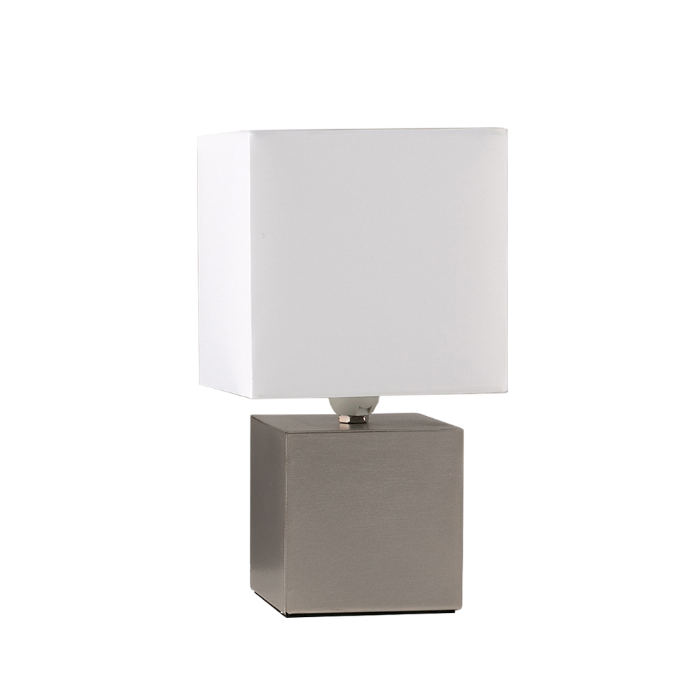 Cubbie Silver Touch Table Lamp With White Shade