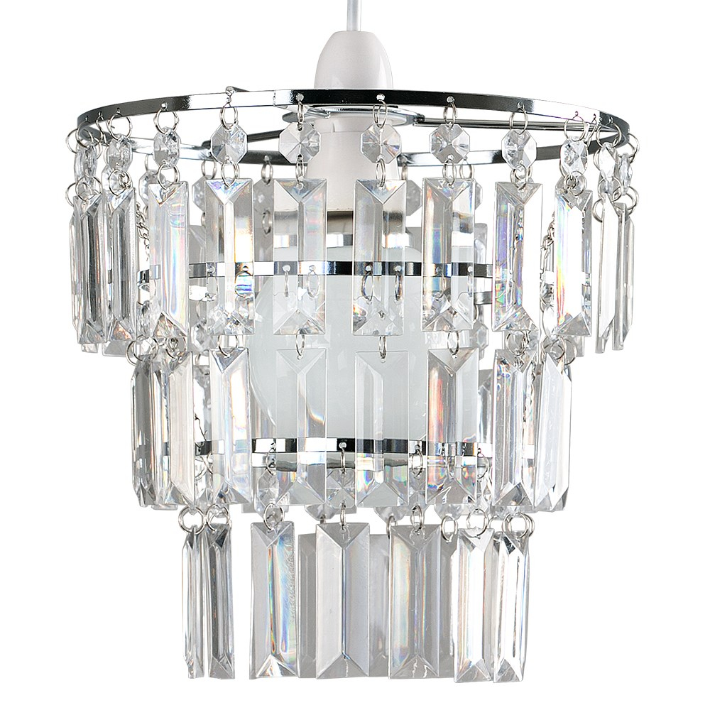 Kelsks Pendant Shade in Chrome and Clear