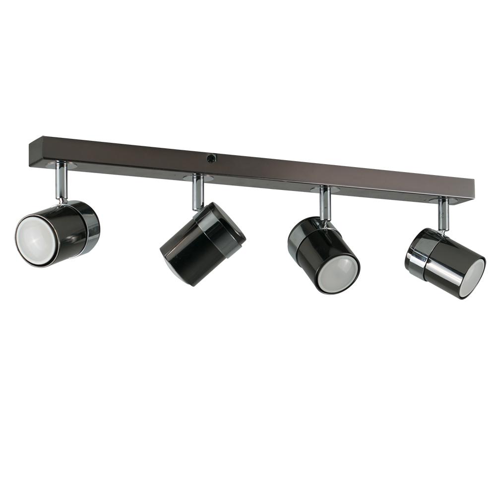 Rosie 4-Way Spotlight Bar in Black Chrome