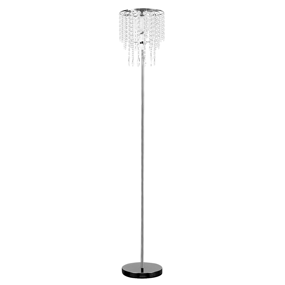 Bronte Chrome Floor Lamp With Crystal Style Droplets