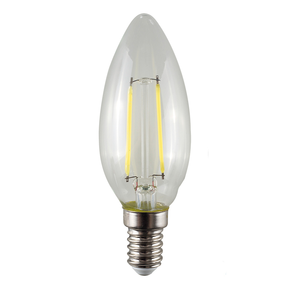 MiniSun 4W SES/E14 Filament Candle Bulb In Warm White - Dimmable