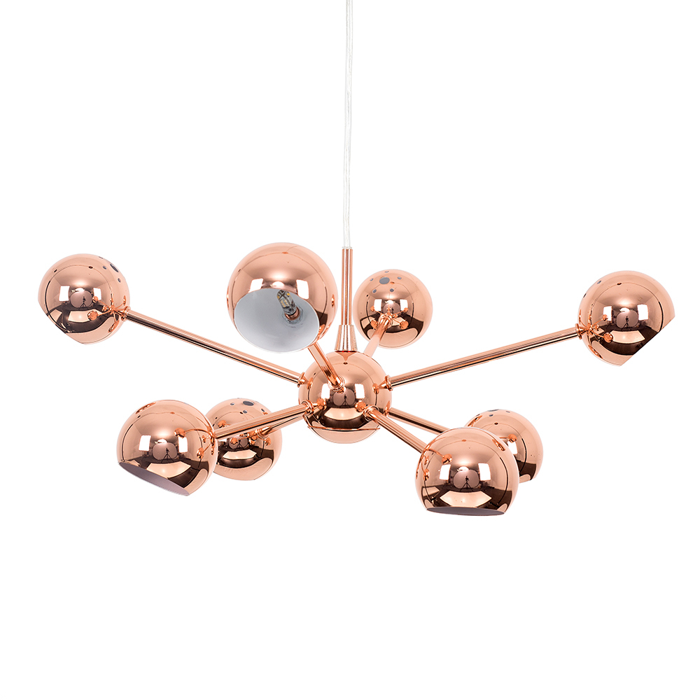 Iconic Telstar 8-Way Ceiling Light in Copper