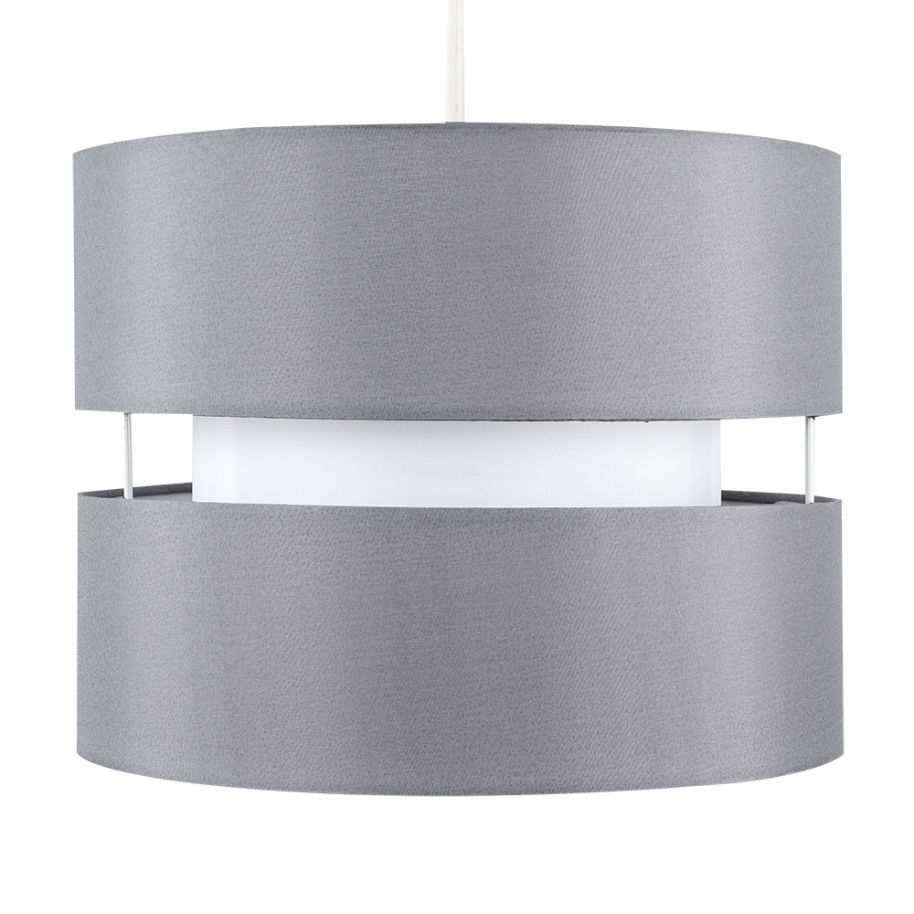 Sophia Pendant Shade in Grey and White