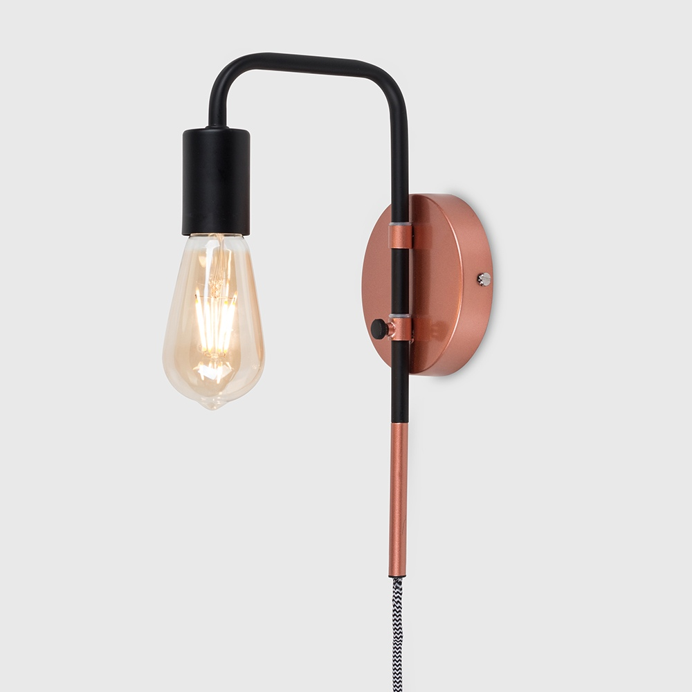 Holden Black Copper Swing Arm Wall Light Iconic Lights