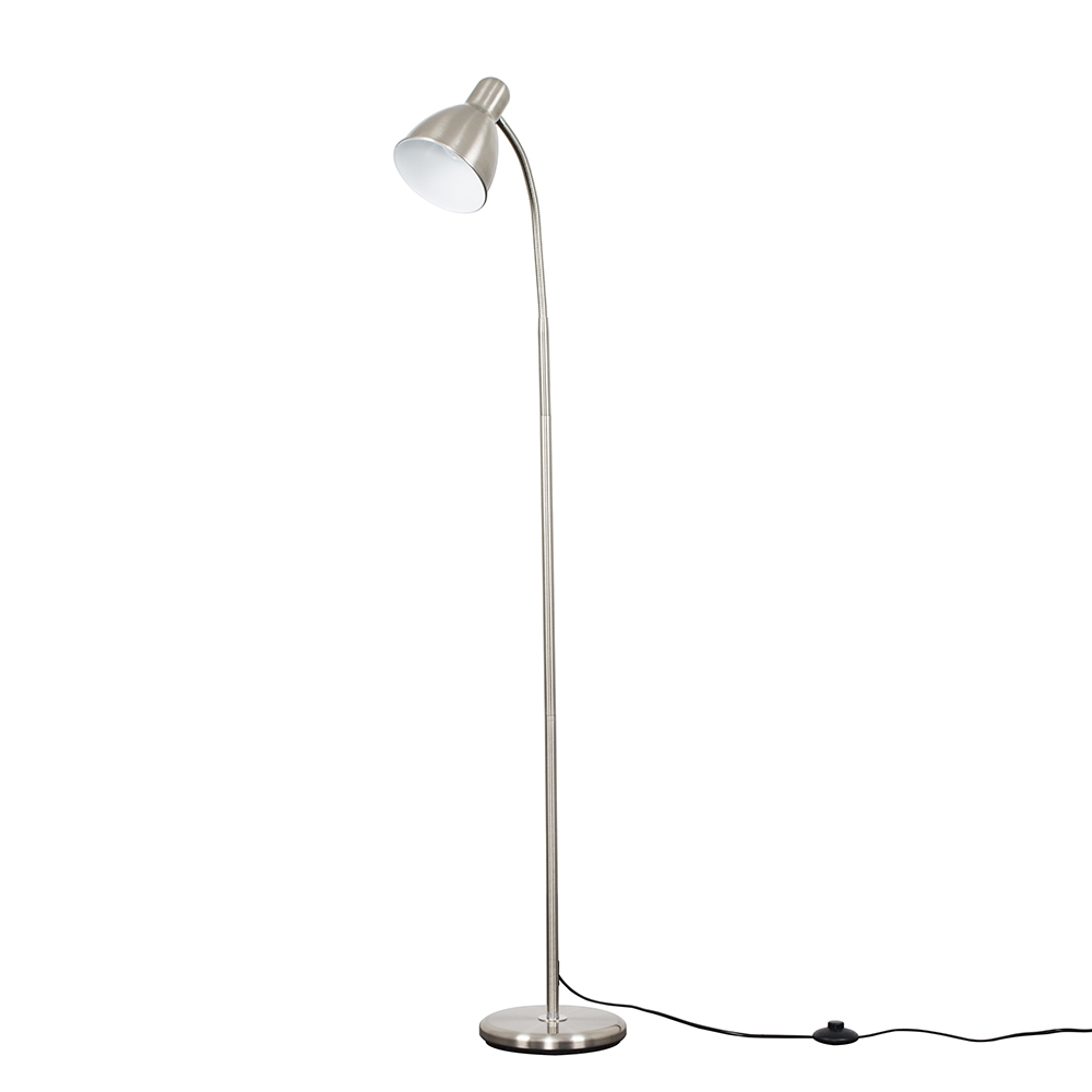 Flexi Neck Floor Lamp in Brushed Chrome