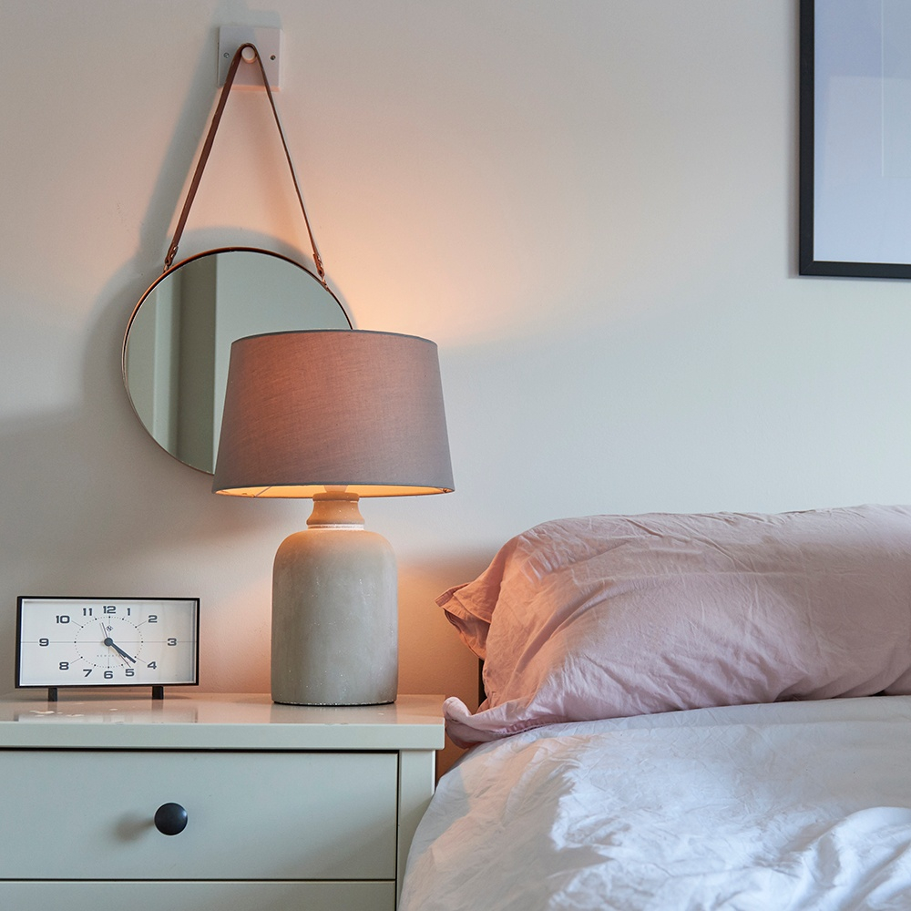 Taite Cement Base Table Lamp in Grey