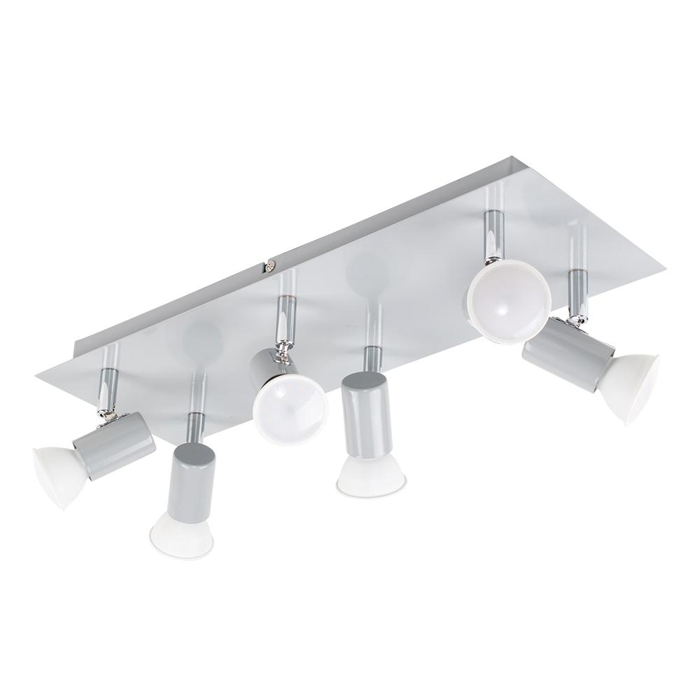 Consul 6 Way Rectangular Spotlight in Grey