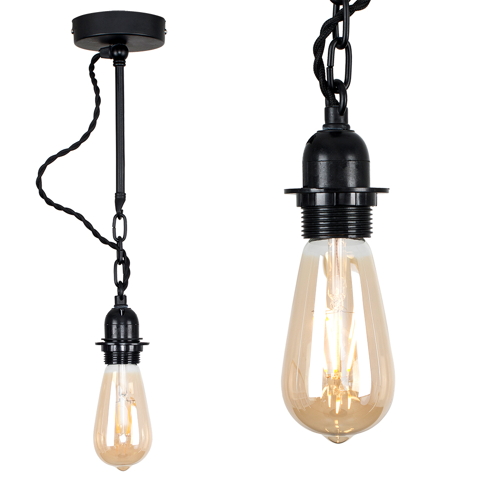 Huber Steampunk Ceiling or Wall Light in Black