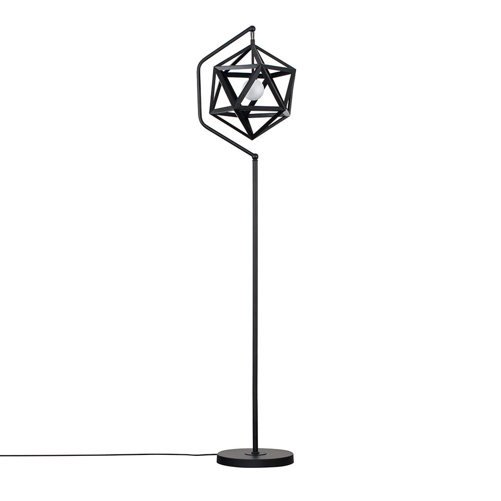 Iconic Cubik Black Floor Lamp