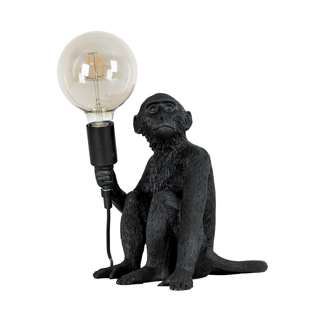 George Monkey Table Lamp in Black