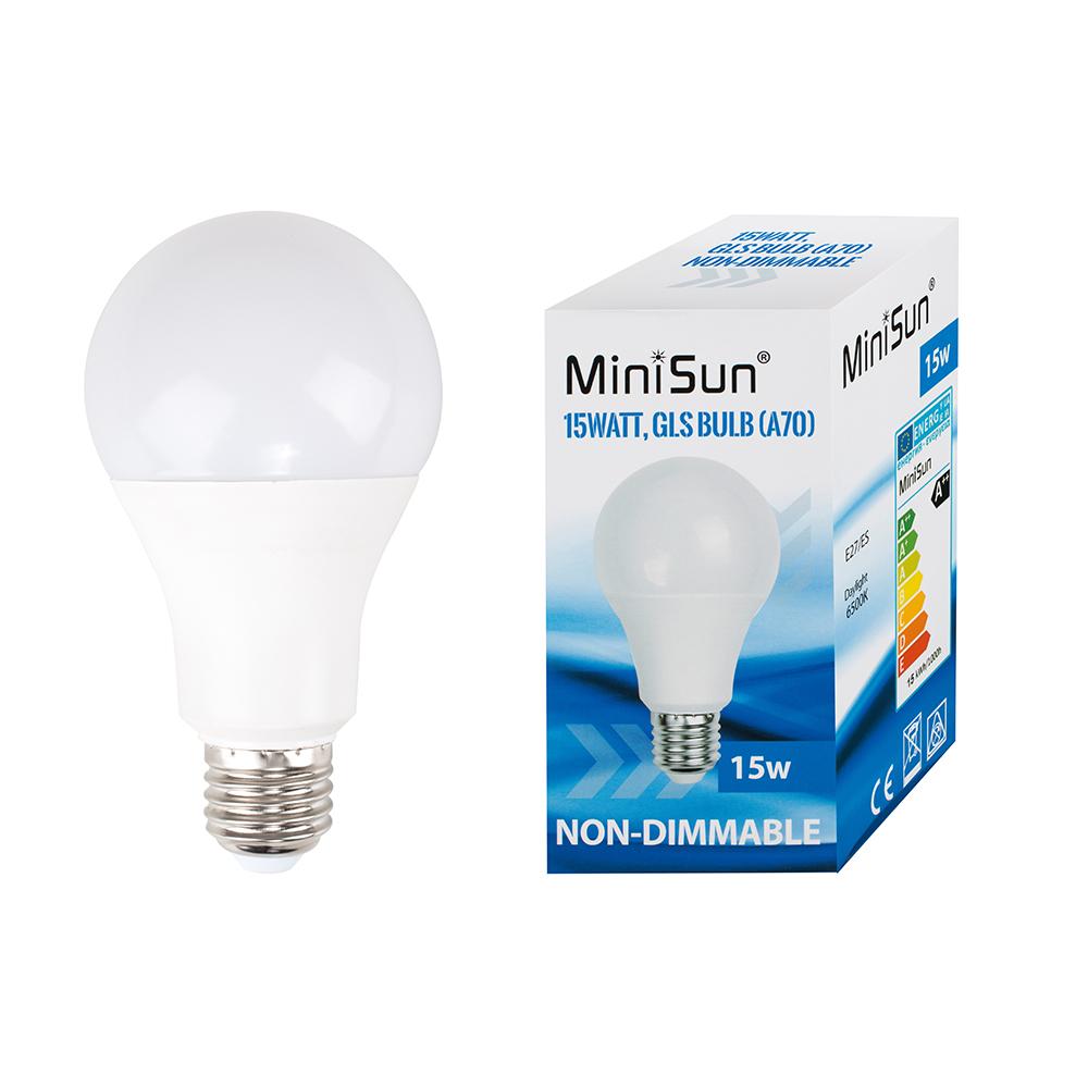 MiniSun 15W ES E27 LED GLS Bulb in Cool White