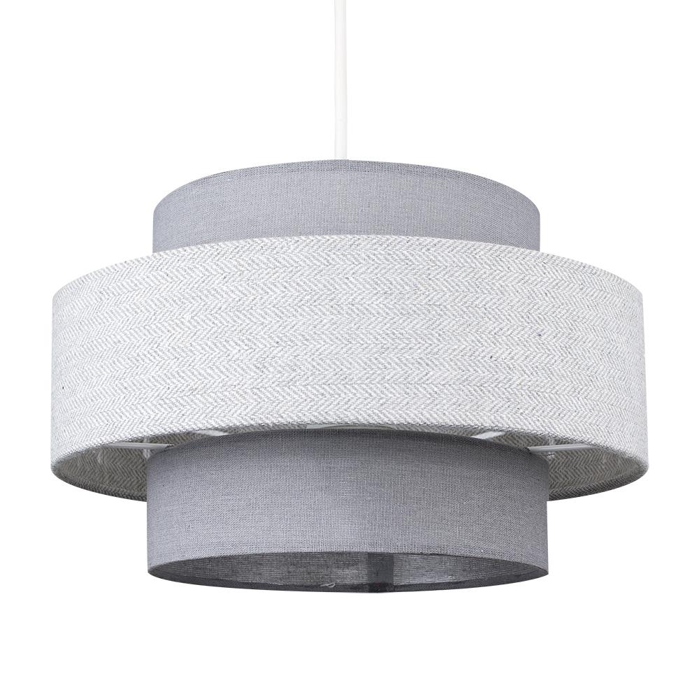 Weaver Pendant Shade in Grey and Dark Grey