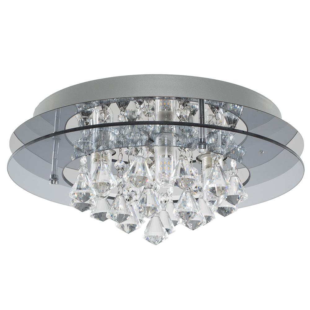 Romano IP44 K5 Crystal Flush Ceiling Light