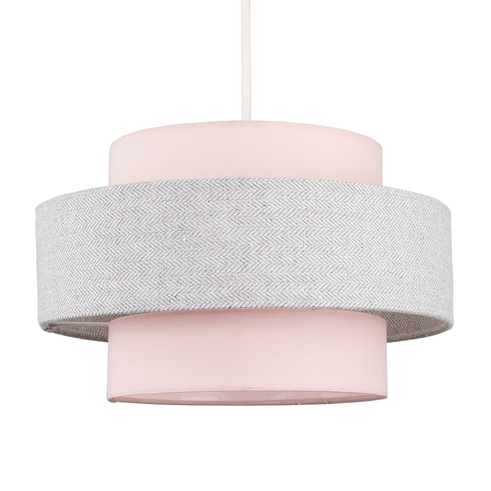 Weaver Pendant Shade in Grey and Pink