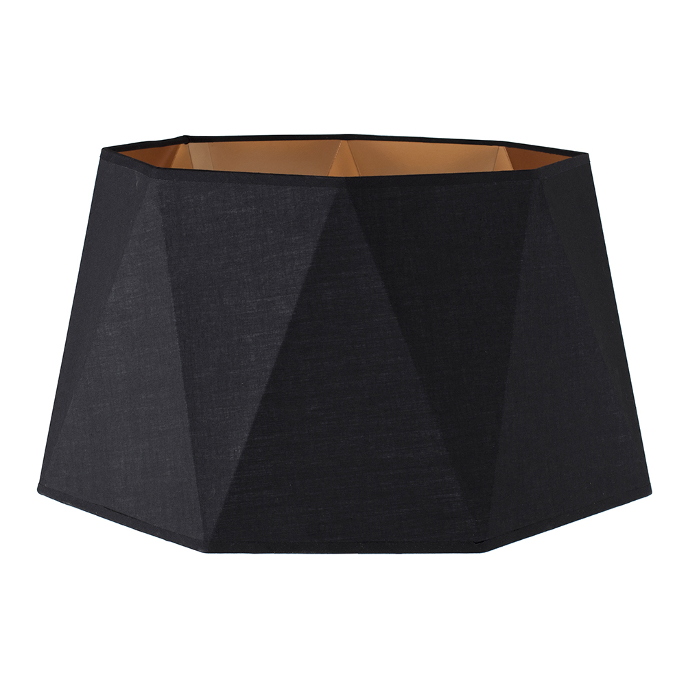 Toke Geometric Floor Lamp Shade in Black and Copper