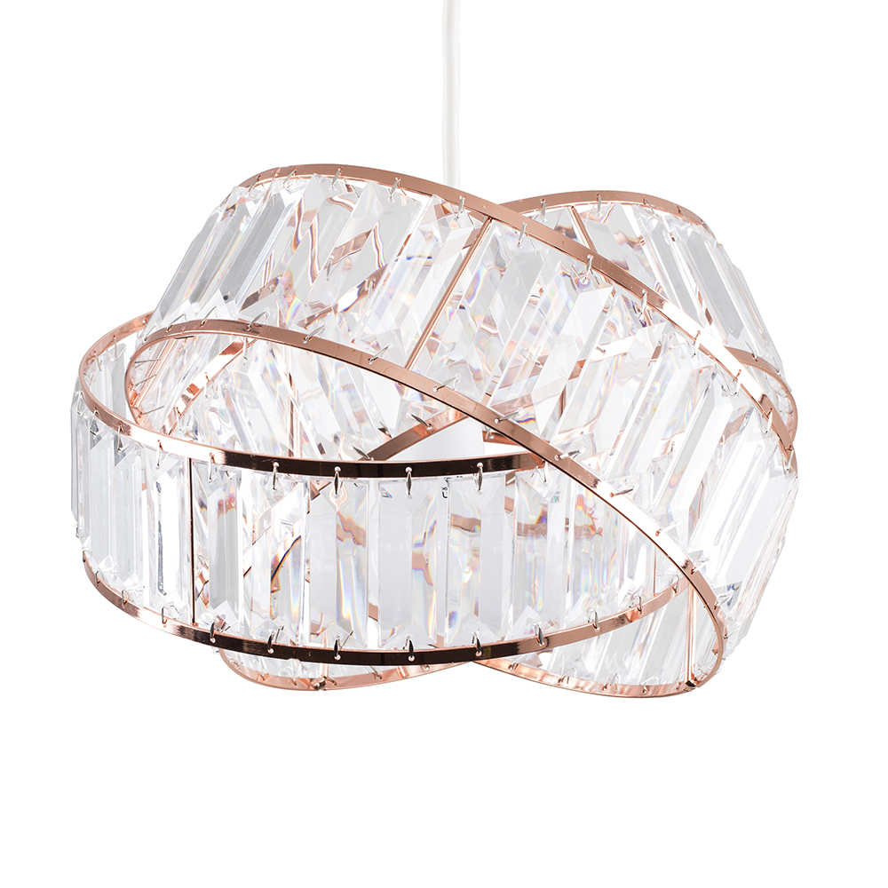Hudson Pendant Shade in Copper and Clear