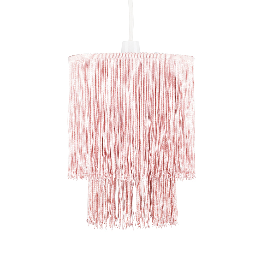 Nabella 2 Tier Tassel Pendant Shade in Pink