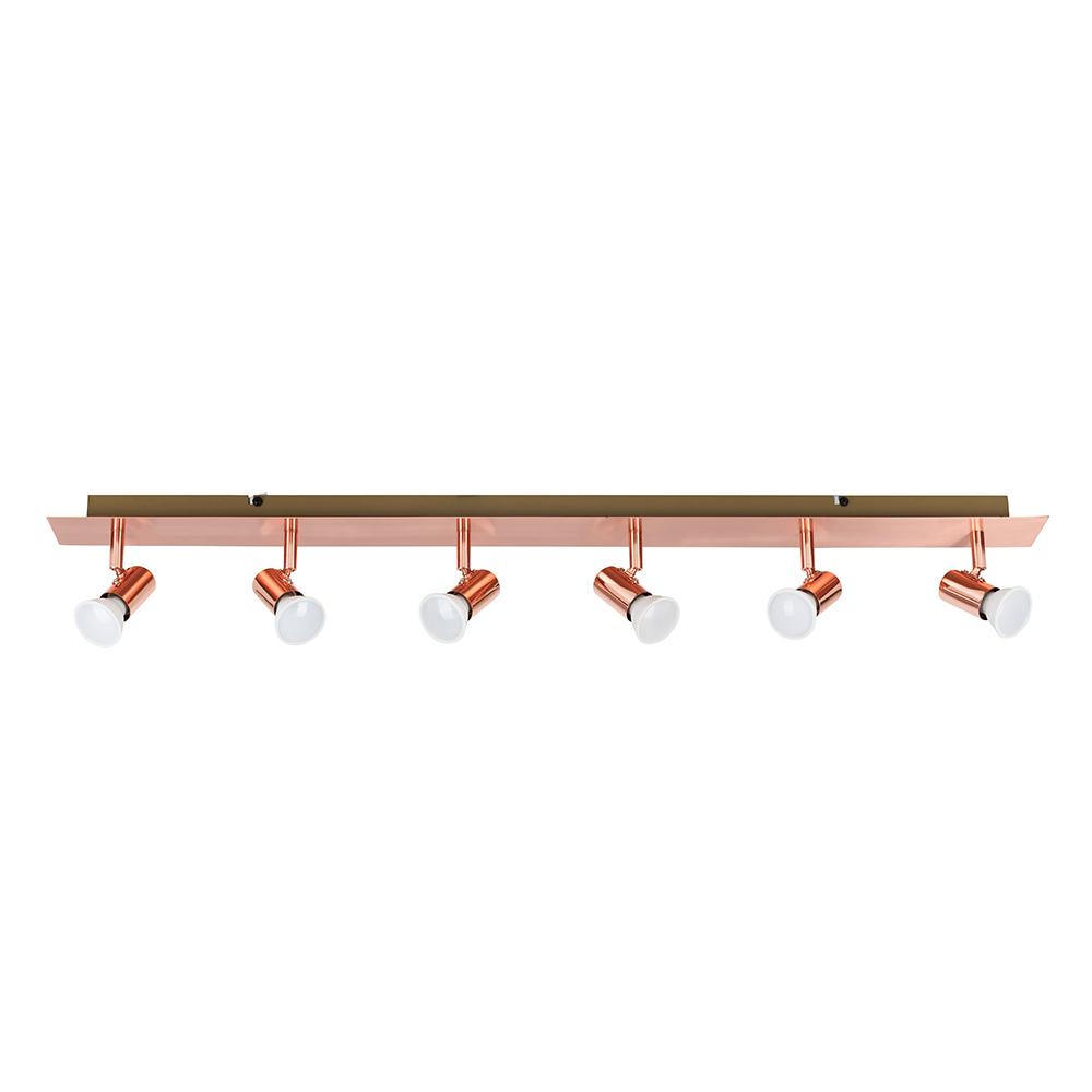 Consul Copper 6 Way Plate Spotlight