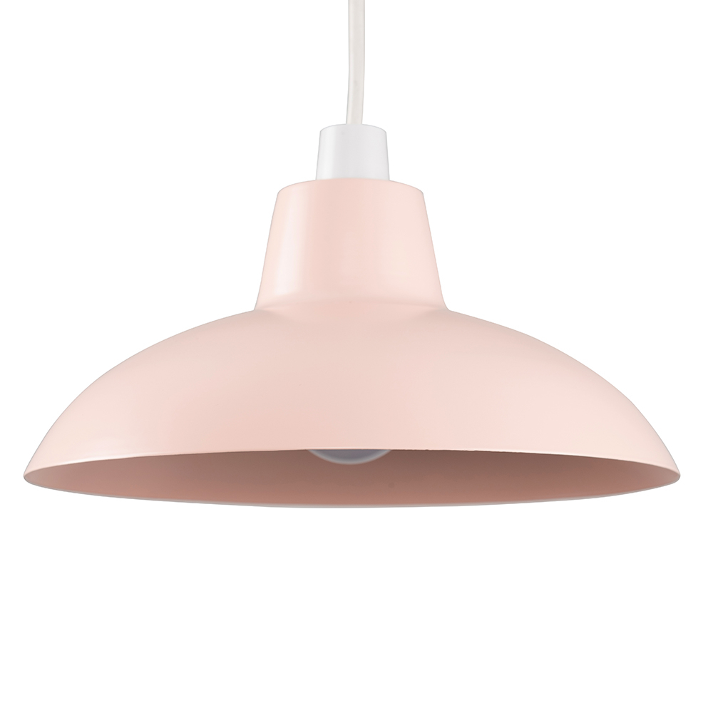 Civic Dusty Pink Metal Pendant Shade