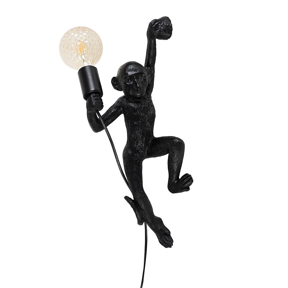 George Monkey Wall Light in Matt Black