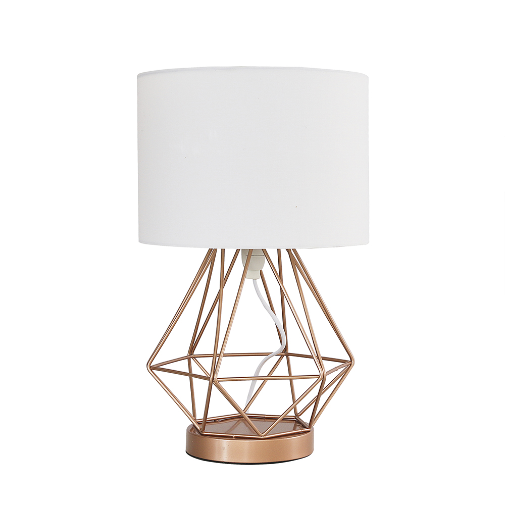 Melrose Copper Touch Table Lamp with White Shade