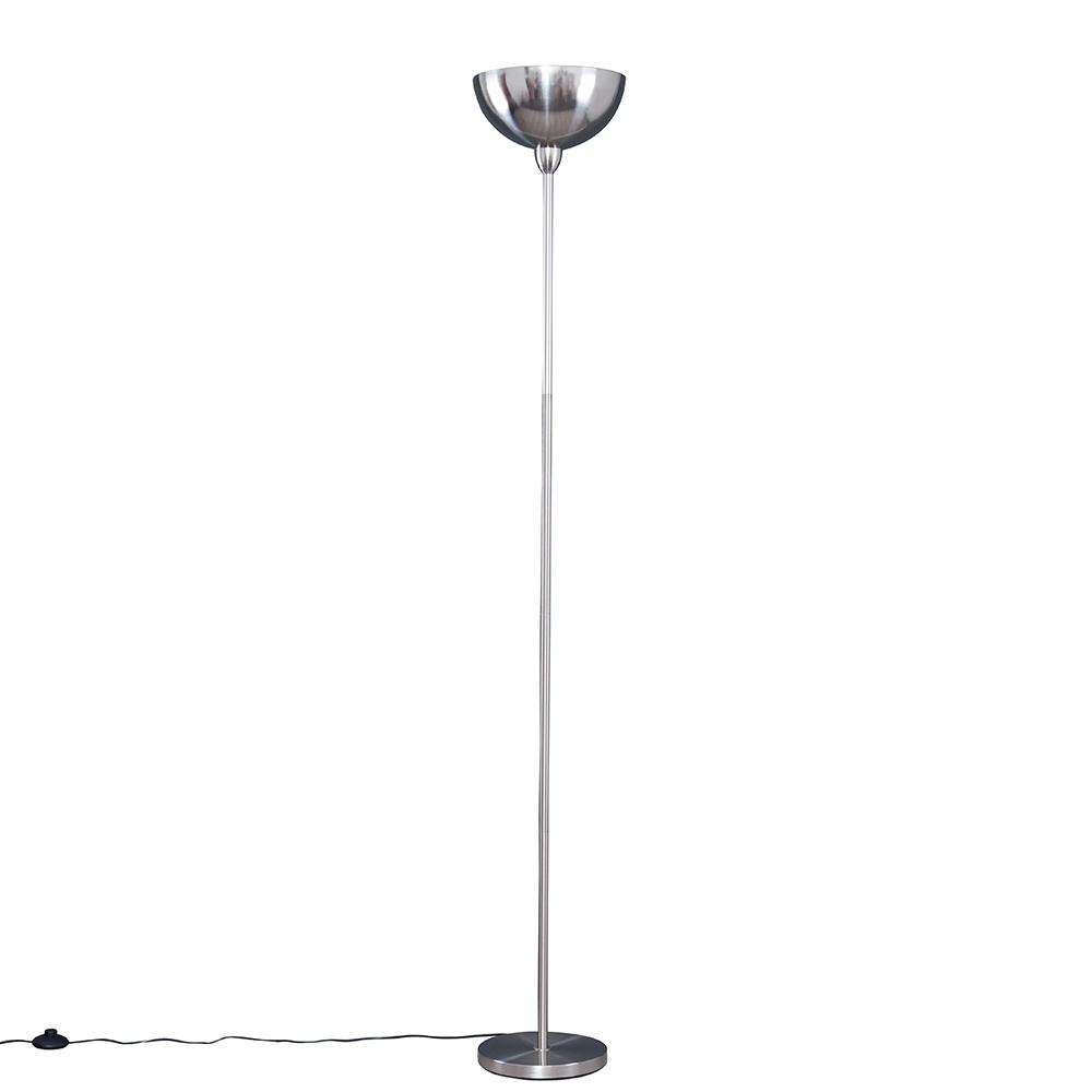 Forseti Uplighter Floor Lamp in Brushed Chrome