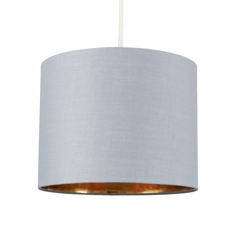 Reni Small Pendant Shade in Grey and Gold