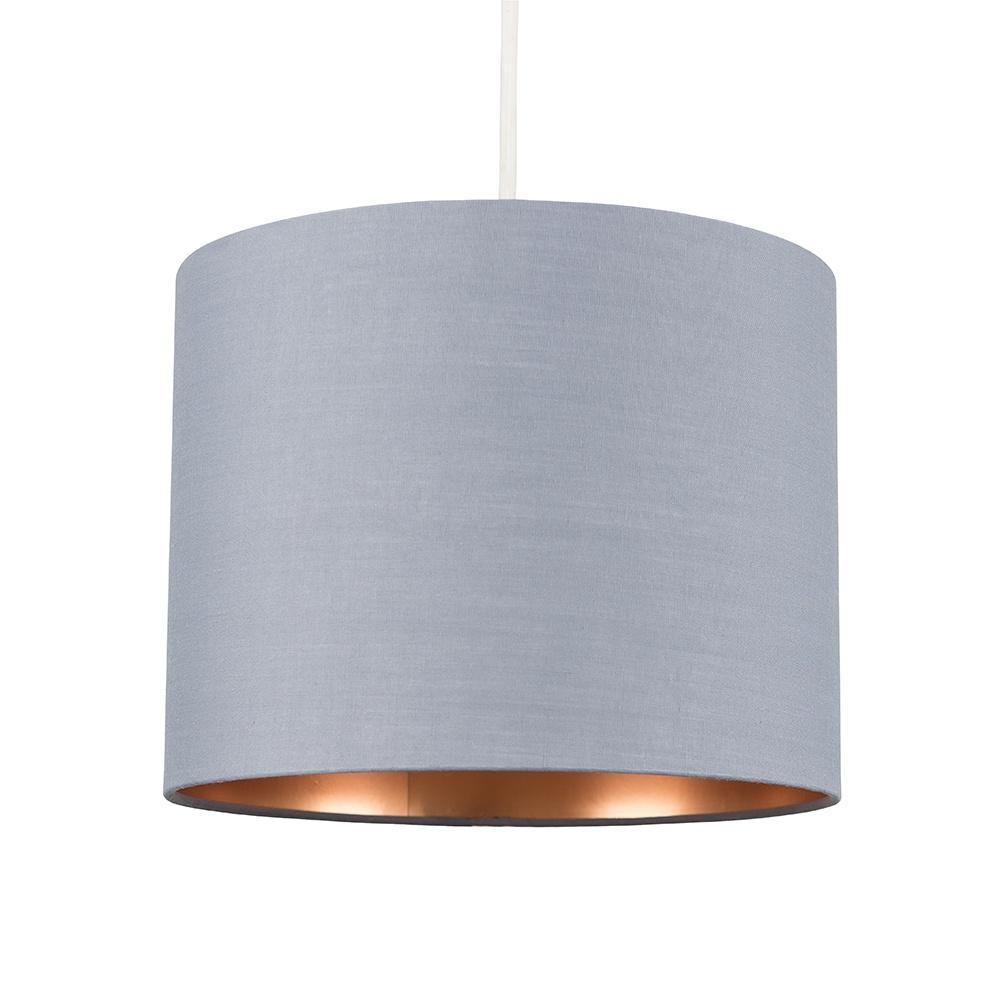 Reni Small Pendant Shade in Grey and Copper