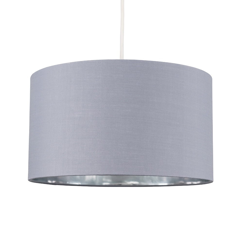Reni Large Pendant Shade in Grey and Chrome