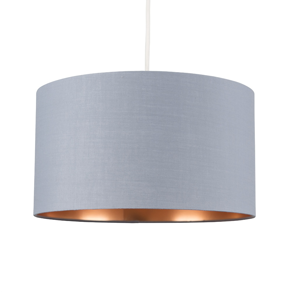 Reni Large Pendant Shade in Grey and Copper