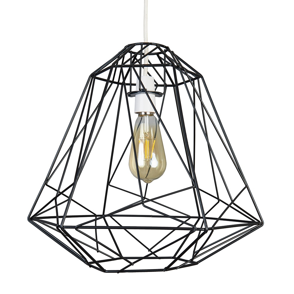 Iconic Peru Wire Frame Pendant Shade in Black