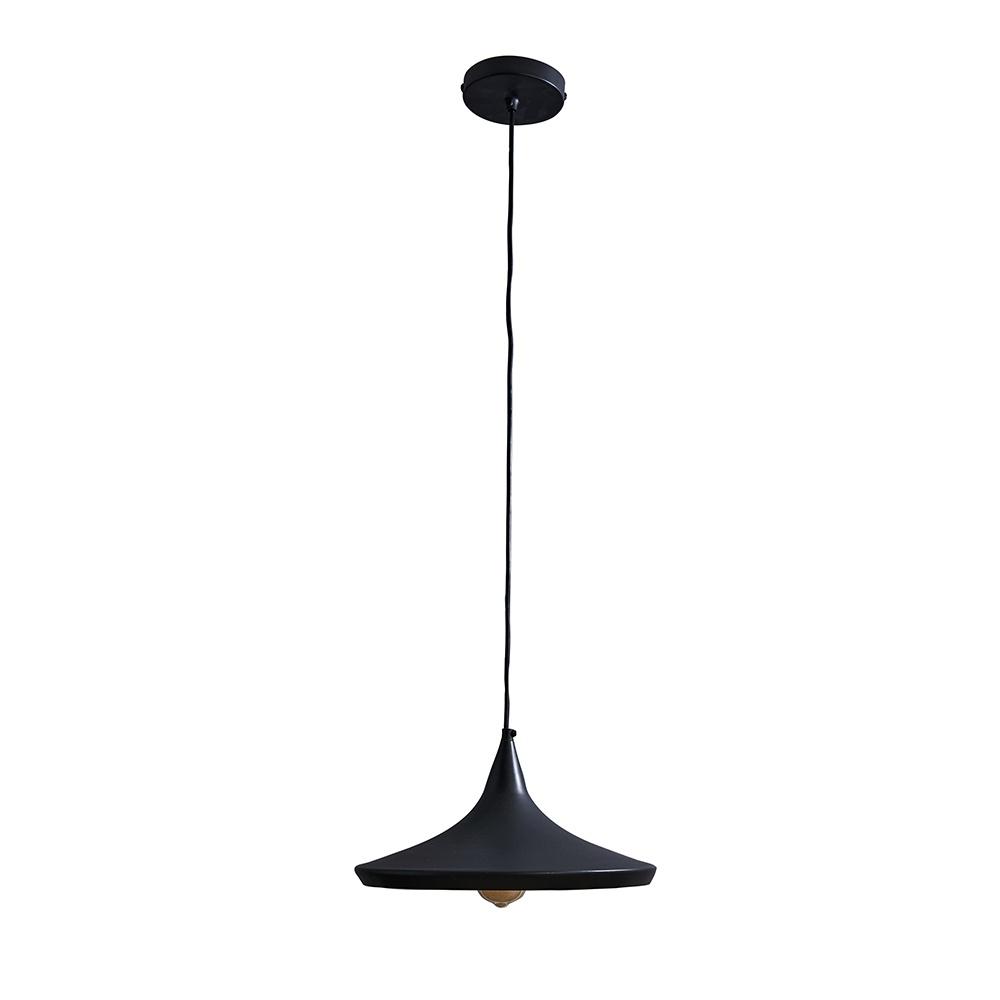 Amini Matt Black Pendant Ceiling Light with Gold Inner