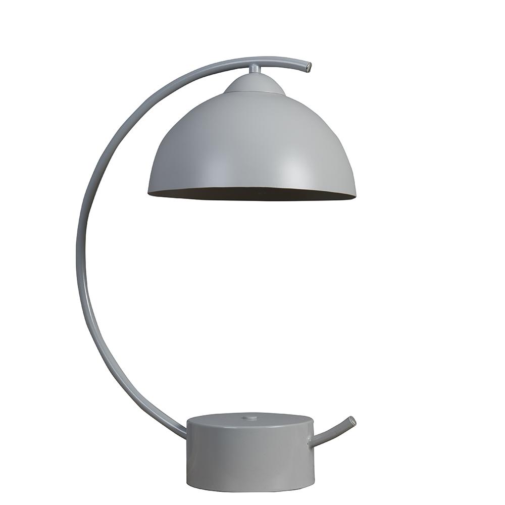 Lua Cool Grey Curve Table Lamp