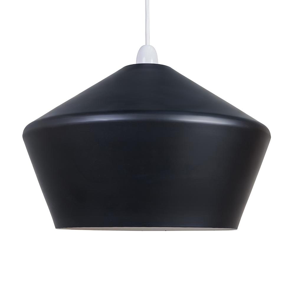 Otis Matt Black Angled Pendant Ceiling Shade