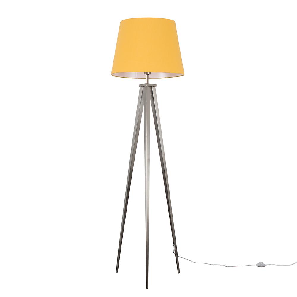 Nero Floor Lamp with XL Mustard Aspen Shade