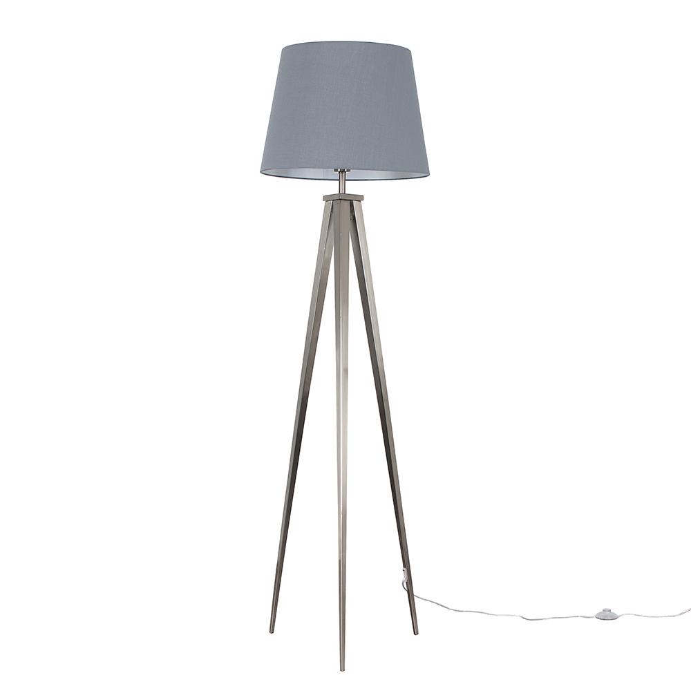 Nero Floor Lamp with XL Grey Aspen Shade