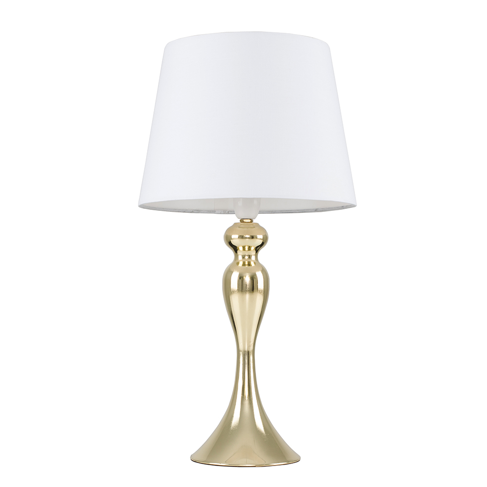 Faulkner Gold Touch Table Lamp with White Aspen Shade