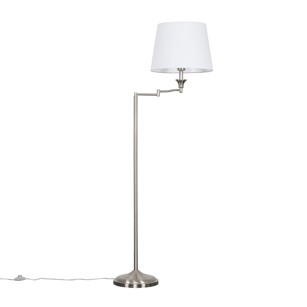 Sinatra Floor Lamp with White Aspen Shade