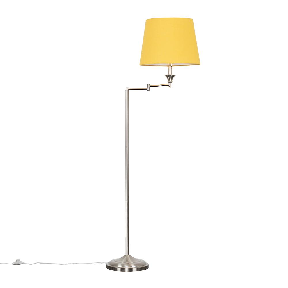 Sinatra Floor Lamp with Mustard Aspen Shade