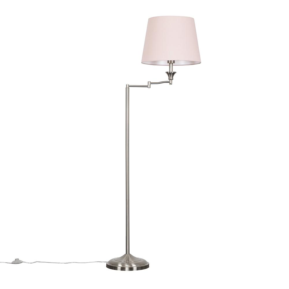 Sinatra Floor Lamp with Dusty Pink Aspen Shade