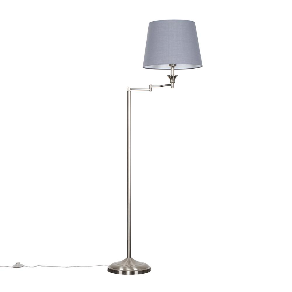 Sinatra Floor Lamp with Grey Aspen Shade