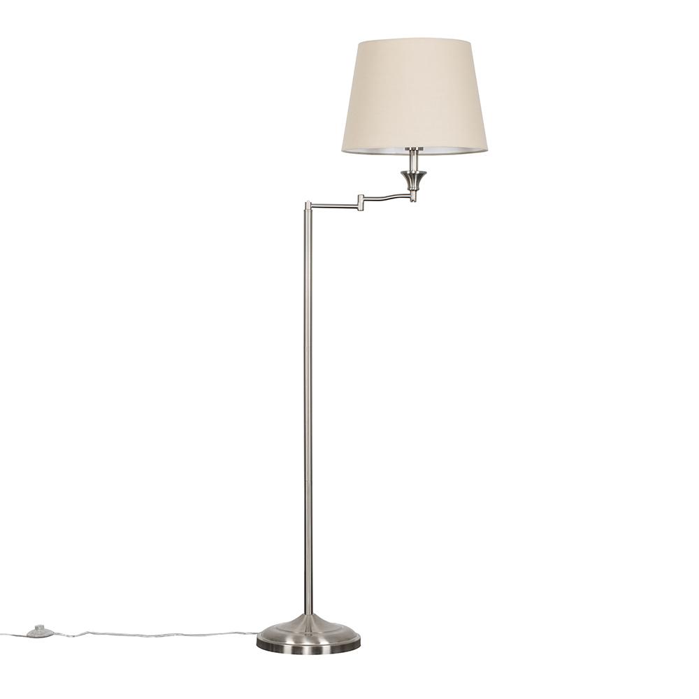 Sinatra Floor Lamp with Beige Aspen Shade