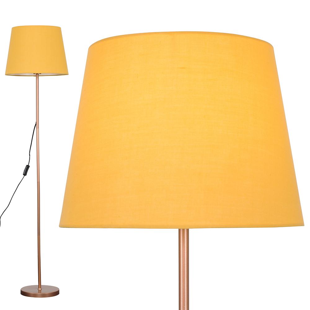 Charlie Copper Floor Lamp with Mustard Aspen Shade