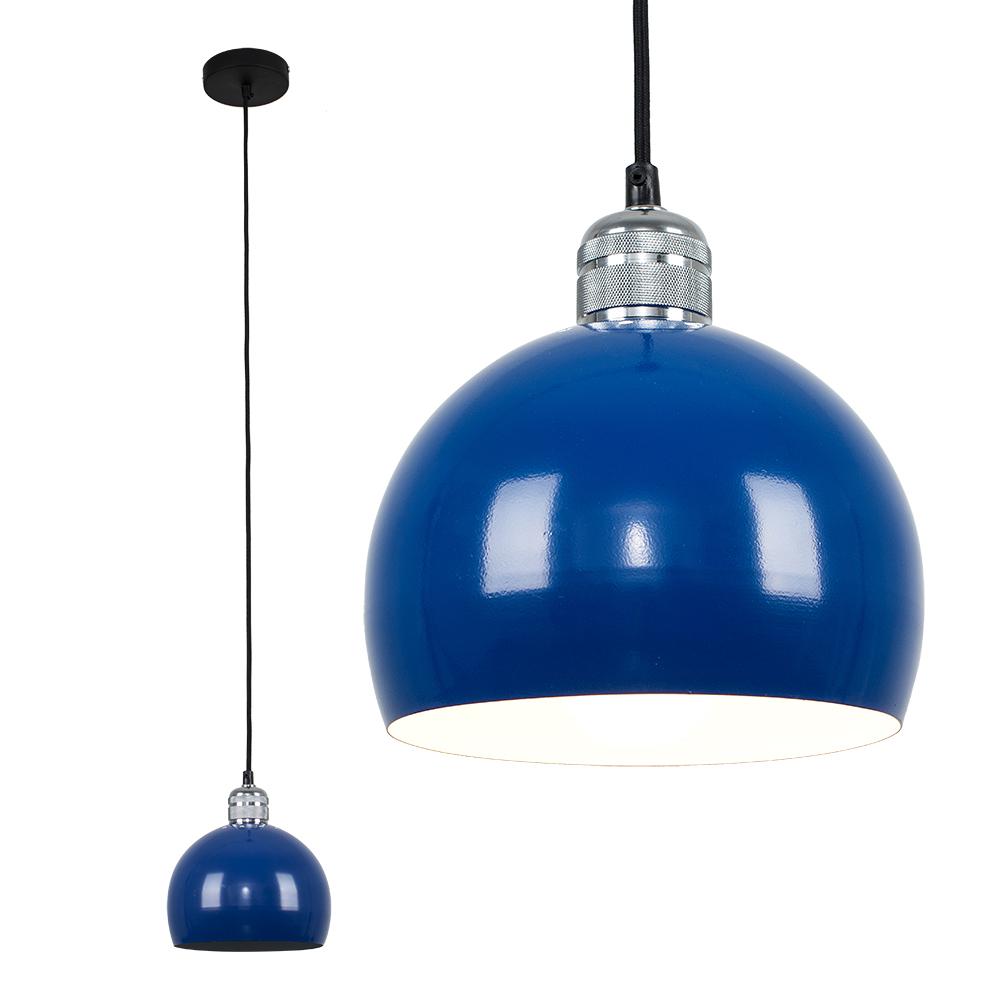 Casco Chrome Pendant with Navy Blue Arco Shade