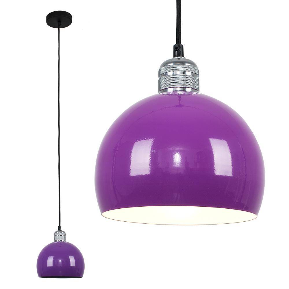Casco Chrome Pendant with Purple Arco Shade