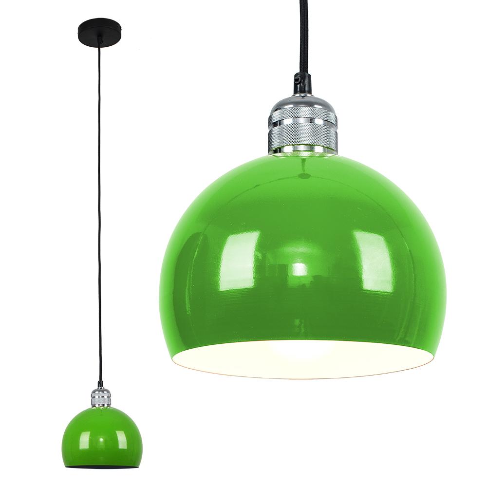 Casco Chrome Pendant with Green Arco Shade