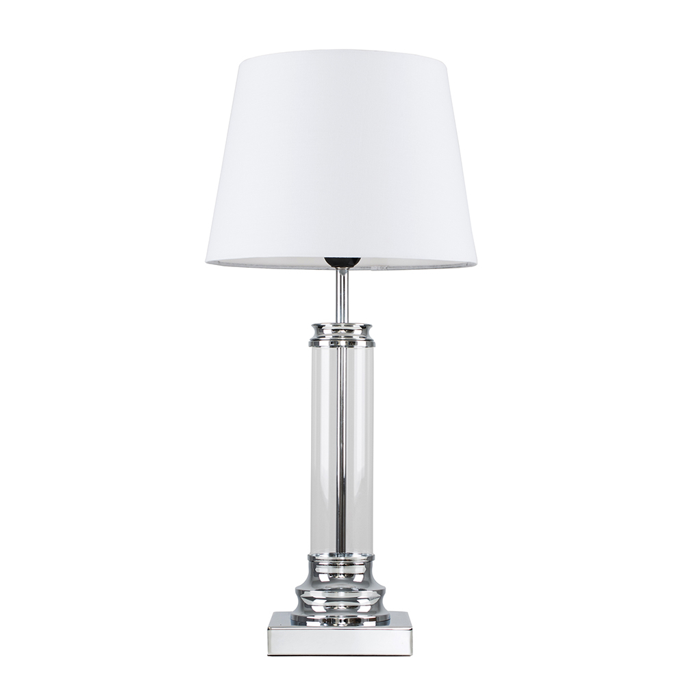 Knowles Touch Table Lamp with White Aspen Shade