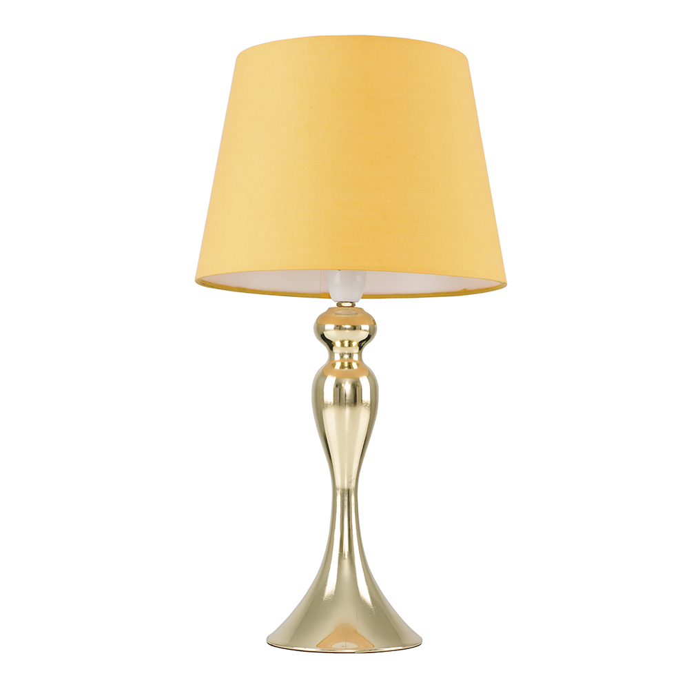 Faulkner Gold Touch Table Lamp with Mustard Aspen Shade