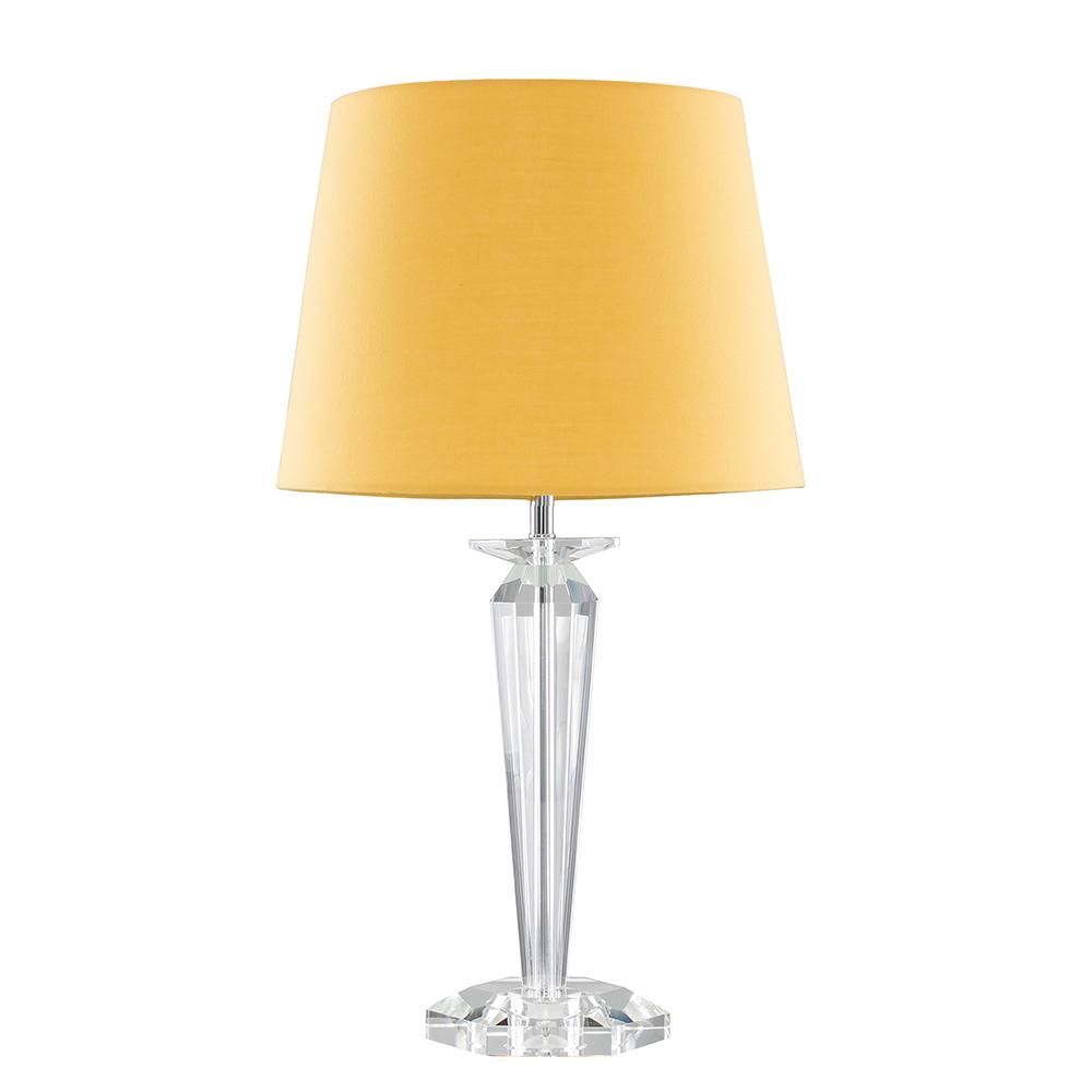 Davenport K9 Crystal Table Lamp with Mustard Aspen Shade